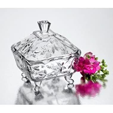 Small Grape Design Crystal Canister