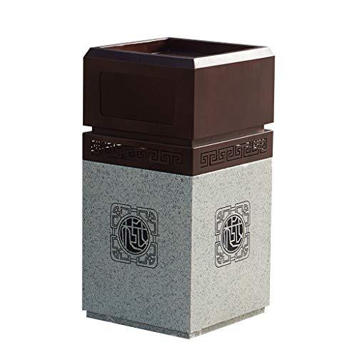 NYKK Cubo de Basura Bote de Basura del Club empresarial, Bote de Basura al Aire Libre del Bote de Basura de mármol de imitación de Alto Grado Residuos Contenedores