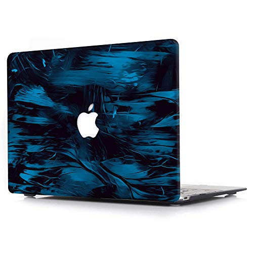 AJYX Custodia Compatibile con MacBook PRO 16 Pollici 2020 2019 (Modello: A2141), Plastica Cover Rigida Protettiva Copertina per MacBook PRO 16 con Touch Bar e Touch ID - Graffiti Blu