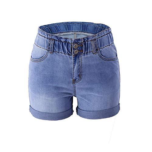 Verano nuevos Pantalones Cortos de Cadera Ajustados de Mezclilla elástica de Venta en Europa y América