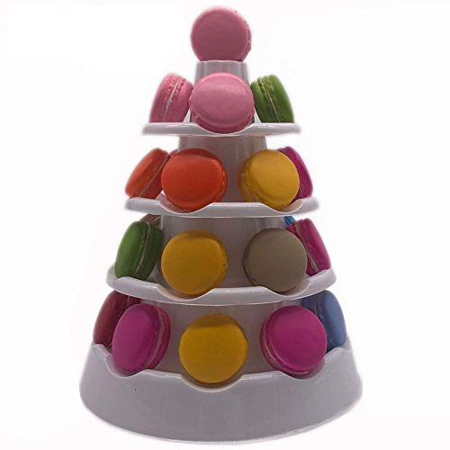 White Macaron Display Stand 5 Tier Tower Dessert / Cake Stand Wedding Decoration Stand Birthday Party Supplies