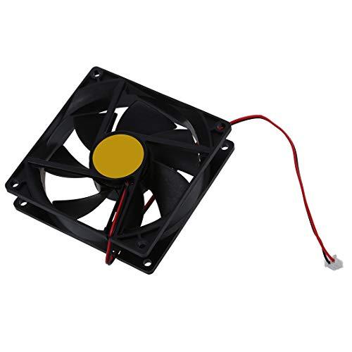 SODIAL 92mm x92mm x 25mm DC 12V 2Pin 65.01CFM Ventilador de refrigeracion de la carcasa de la computadora Ventilador de refrigeracion