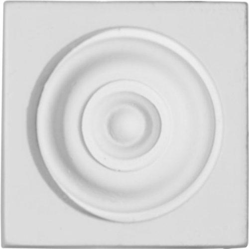 Ekena Millwork PB02X02X01MA 2 3/8-Inch W x 2 3/8-Inch H x 1-Inch P Maria Plinth Block