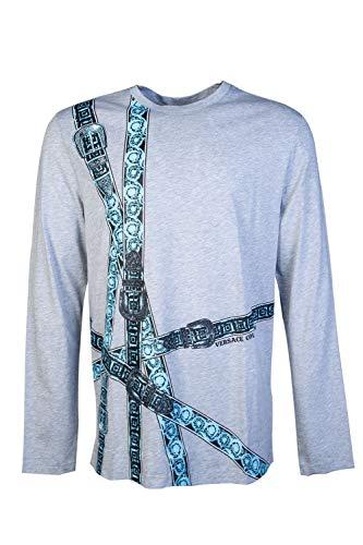 Versace Collection Langarmshirt, Baumwolle, Grau Gr. L, grau