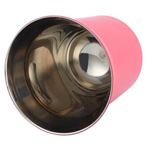 Uxsiya Taza de café con aislamiento térmico taza de café doble 304 acero inoxidable doble pared taza bebidas, leche, agua (rojo rosa, 160 ml)