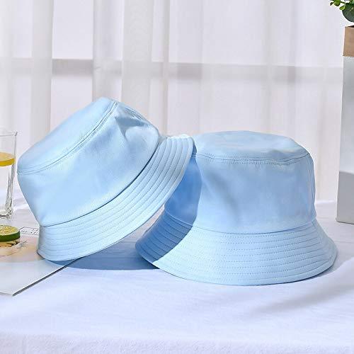 WAZHX Sombrero De Cubo Plegable De Verano Unisex para Mujer, Protector Solar Al Aire Libre, Gorra De Pesca De Algodón, Gorra De Caza para Hombres, Sombreros para Prevenir El Sol, Adultos 6Skyblue