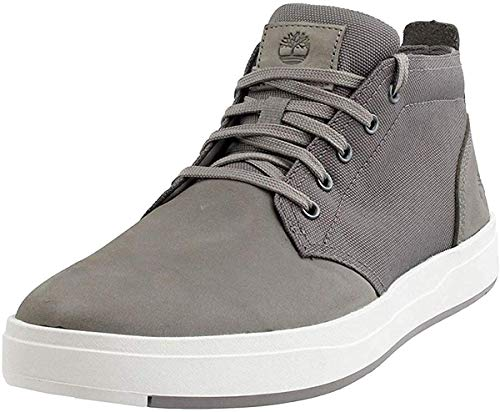 Timberland Davis Square Leather and Fabric Chukka Medium Grey Nubuck 9 D (M)