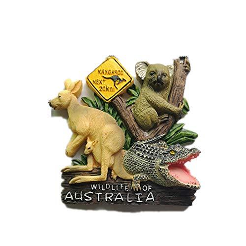 Bella 3D Magneti per FrigoriferoCalamite da Frigo Fridge Magnet Sticker Stile Australia Canguro Koala Coccodrillo Decorazione Casa Regalo