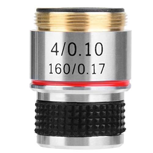 4X Achromatische Objektive,30,5 mm Achromatisches biologisches Objektiv, Mikroskop Objektiv,Aluminiumlegierungsmikroskop Juwelier-Lupenlinse Digitales Objektiv