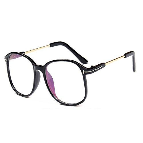 Meijunter Mode Klare Linse Brille Vintage Optische Gläser für Damen Herren Runde Metall Rahmen Brillen