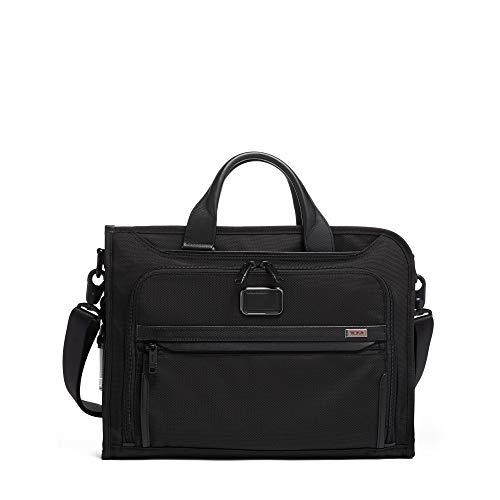 TUMI - Alpha 3 Slim Deluxe Portfolio Bag - Organizer Briefcase for Men and Women - Black