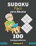 Sudoku Fácil para Abuelo. 100 Rompecabezas Volumen 9: sudoku con solución para personas mayores, Regalo para Abuelo.