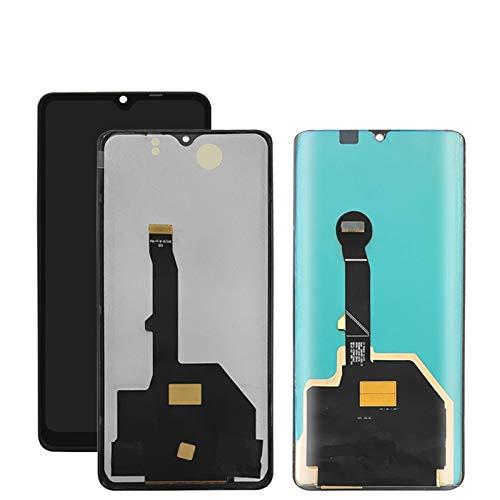 MOLIBAIHUO Compatible con Huawei P30 Pro LCD pantalla táctil+digitalizador de pantalla Accesorios de montaje con marco compatible con Huawei P30Pro VOG-L09 L29 LCD LCD LCD (color: Aurora con marco)