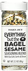 Pack of 1 - 2. 3 ounce glass shaker Ingredients: sesame seeds, sea salt flakes, dried minced garlic, dried minced onion, black sesame seeds, poppy seeds 2. 3-Ounce glass shaker