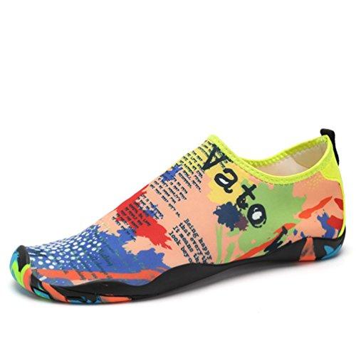 Qianliuk Badeschuhe weich Fitness Wasser Schuhe Paar Strand Angeln atmungsaktiv Sommer barfuß