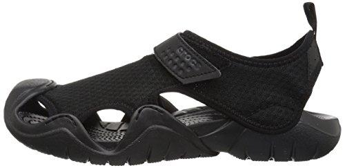 Crocs Men's Swiftwater Sandal Flat, Black/Black, 15 M US