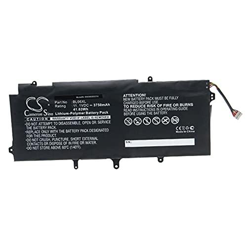 vhbw Batería Recargable reemplaza HP BL06XL, HSTNN-DB5D, HSTNN-IB5D, HSTNN-W02C para Notebook (3750 mAh, 11,1 V, polímero de Litio)