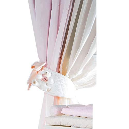 Dilibest by Picci Gardinenschlaufen Mousse rosa für Baby- und Kinderzimmer