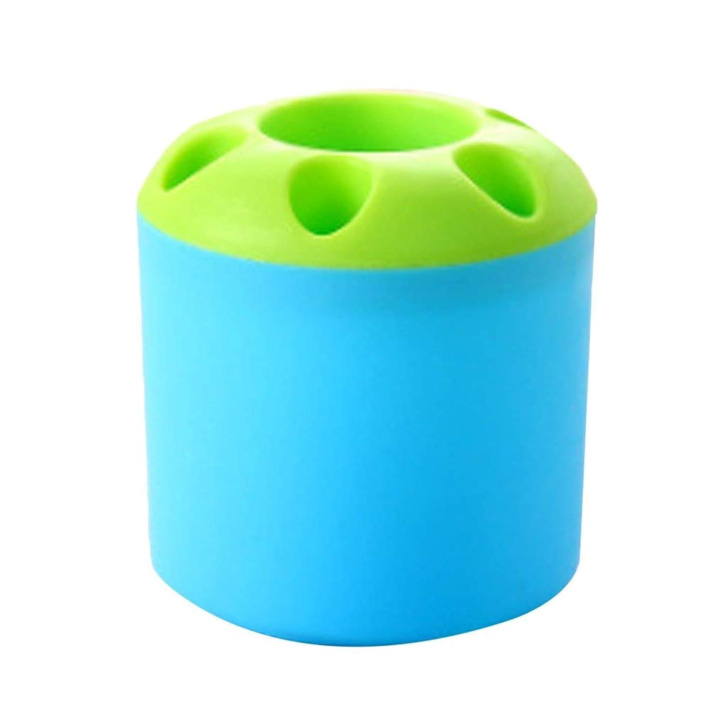楕円形スクレーパー乱雑な革新的な歯ブラシシリンダープラスチックブラシホルダーバスルームアクセサリー