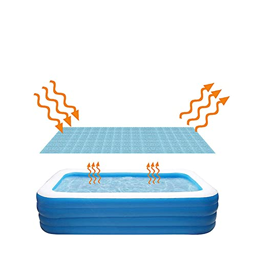Luoyuxia Swimming Pool Cover Solar Pool Cover for Inflatable Swimming Pools Above Ground Pool Easy Set Blanket Covers for Frame Pools, Keep Water Warm, Keeps Out Leaves Debris Dirt 1.9x2m