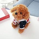 huobeibei Super Lindo simulación Perro de Peluche Pareja Juguetes de Peluche muñecas Ropa caniche muñeca Suave Cachorro para niños 45cm A