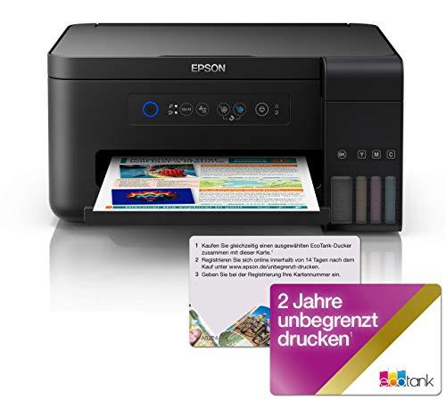 Epson EcoTank ET-2700 nachfüllbares 3-in-1 Tintenstrahl Multifunktionsgerät (Kopieren, Scannen, Drucken, DIN A4, WiFi, USB 2.0 großer Tintentank, hohe Reichweite)