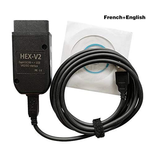Amandua Vcds HEX V2 Interfaccia VAGCOM 20.4.2 VAG COM 19.6 PER VW per AUDI per Skoda Seat Vag 20.4 Polacco ATMEGA162+16V8+FT232RQ