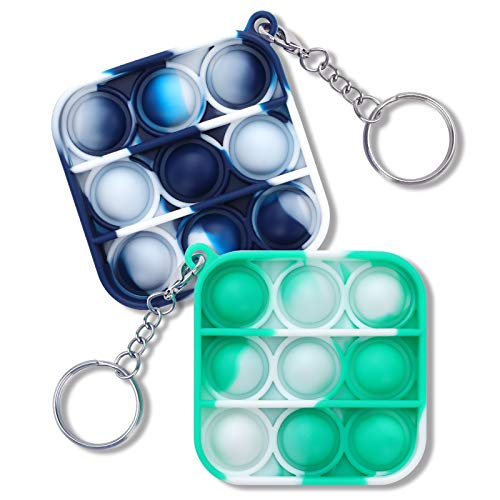 OptiCase MichPong Mini Push pop-up Bubble Gadgets Sensory Toys, Mini Gadgets Toys, Gadgets Toys for Children and Adults, Simple dimple Gadgets Bags, (White Blue-White Green)