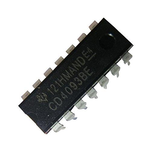 Texas Instruments CD4093BE CD4093CMOS Quad 2-input NAND Schmitt Triggers (Pack de 15)