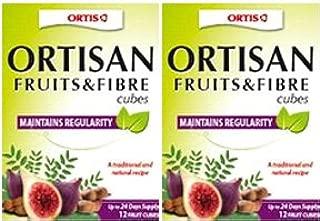 (2 Pack) - Ortis - Fruits & Fibre Cubes   24 Cubes box   2 PACK BUNDLE