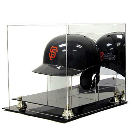 Deluxe Acrylic Baseball Helmet Display Case w/ Stand