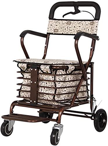 SISHUINIANHUA Selbstfahrer Wanderer, Rollatoren/Wanderrahmen Walker Rollator/Walking Aid/Walker Rollator für ältere Einkaufen/Trolley für ältere alte Mann Walker Rollat