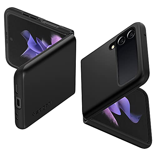 Spigen Funda Thin Fit Compatible con Samsung Galaxy Z Flip 3 - Negro