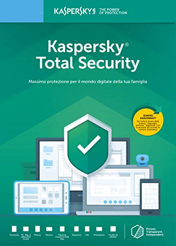 Kaspersky Total Security | Full | 1 Dispositivo | 1 Anno | PC/Mac | Codice d'attivazione via email