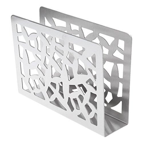 Storage Bag Serviette Holder for Table Metal Napkin Holder Rack Stand Hollow Design Decorative Tissue Holder Table Organiser