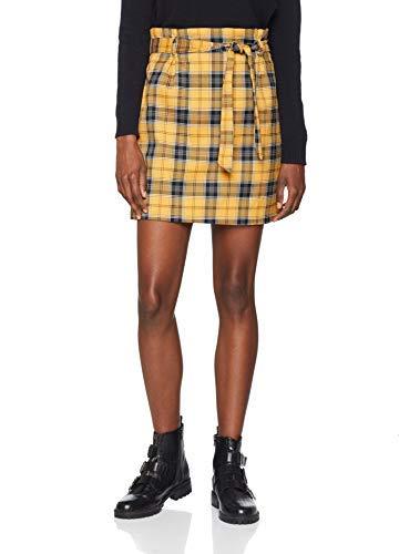 New Look Miranda Mini Falda, Amarillo (Yellow Pattern 89), 36 (Talla del Fabricante: 8) para Mujer