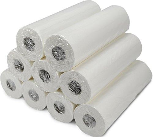 VIDIMA Ärztekrepp 50 cm x 50m, 2-lagig | 9 Rollen | hochwertig weiße Liegenabdeckung zur Hygiene | doppelschichtige & perforierte Papierrolle mit 132 Abrissen | ideal für Krankenhäuser