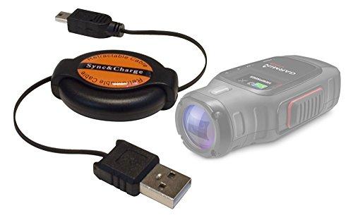 DURAGADGET Cable MiniUSB Retráctil para Garmin Virb | Virb Elite - Ideal...