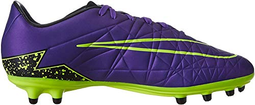 Nike - Hypervenom Phelon II FG, Scarpe da calcio Uomo, Morado / Negro / Verde (Hyper Grape/Hypr Grape-Blk-Vlt), 43 EU