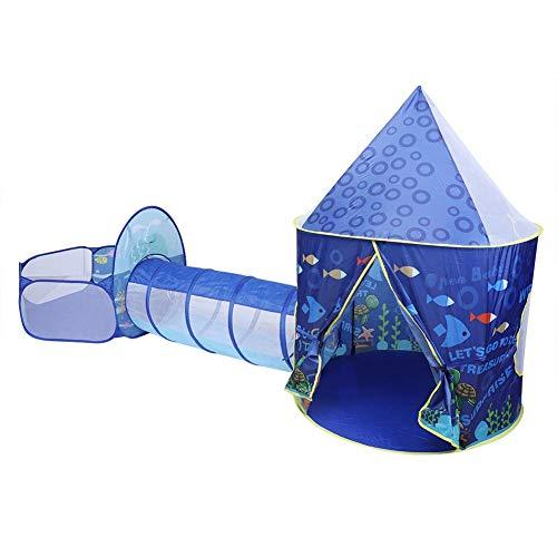 Cadeau voor meisjes, Princess Tent met tunnel, 3-in-1 Princess Castle Tent Milieuvriendelijke hydraulische druk Scheurbestendig Gedrukt Polyester Peuters Speelgoed Verjaardagscadeau