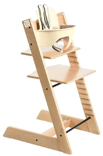Stokke Tripp Trapp Complete Bundle - 2 Items: Tripp Trapp Highchair & Tripp Trapp Babyset Natural