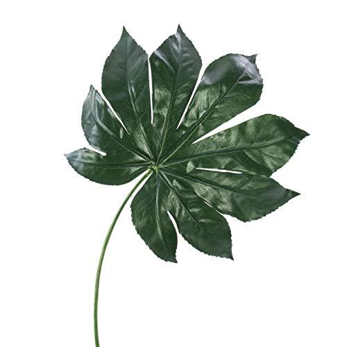 artplants.de Set de 4 Hojas de aralia sintética Faris, Verde, 55cm - Árbol de Angélica Falso - Fatsia Japónica de imitación - Planta simulada
