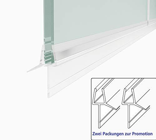 2 Stück Ersatzdichtung Wasserabweiser einstellbare Duschdichtung Spritzschutz Bad Dusche 1000mm (Für glasdicke 7-8mm)