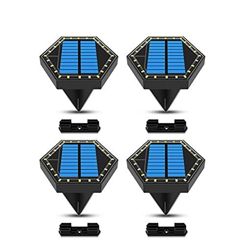 ZHAHAPPY Luces de Tierra solares 24led Garden Césped Impermeable Iluminación Solar Luces de Paisaje subterráneo para la Escalera de Ruta (Color : 4 Pack, Size : Warm White Light)