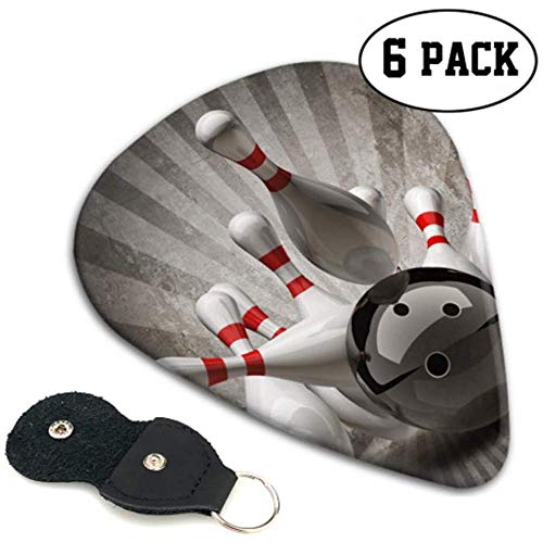 Bowling Ball Crashing In Pins Auf Bassgitarren Plektren Variety Pack Bass Guitar Pick Holder 6 Pack