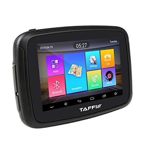 TAFFIO® Android Outdoor Navi Kompatibel mit Motorrad und Fahrrad Touchscreen GPS WiFi SD USB IPX7