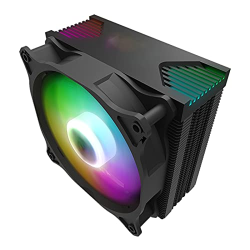 CPU Cooler Aura Sync ARGB Lights 4 HEATPIPES 120 MM Silent PWM Fan RGB HEATSINK CPU Radiador de enfriamiento LGA 1155 / AM4 AMD (Blade Color : Darkair argb Ver)