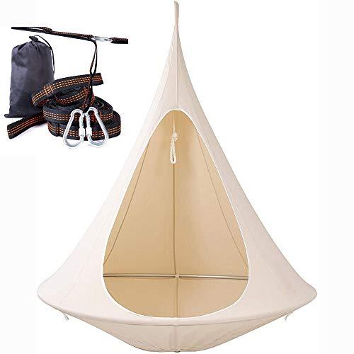 Apoliena Konische Zeltbaum hängende Hängematte Schaukel Stuhl Pod, warme und Bequeme Kinder Pod Schaukel, geeignet für Indoor- und Outdoor-Freizeitaktivitäten für Erwachsene und Kinder