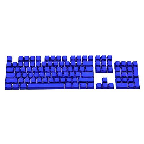 Nlager 104Pcs / Set Universal ABS Keycaps ABS Elegante Retroiluminación Key Caps Reemplazo para Teclados Mecánicos para PC Teclado Mecánico De Computadora Azul Zafiro