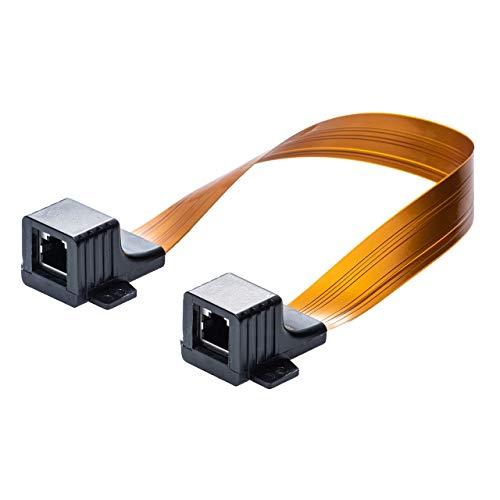 サンワダイレクト フラットLANケーブル 隙間ケーブル 29cm CAT5e 両面テープ/木ネジ 取付 窓 ドア 500-LAN-FLFF